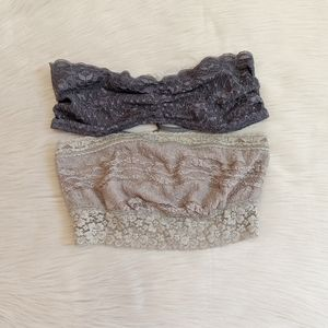 2 Intimately Free People lace bandeau bralettes